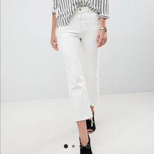 Asos crop kick flare jeans